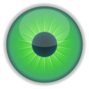 download Green Eye clipart image with 45 hue color