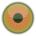 download Green Eye clipart image with 315 hue color