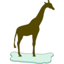 download Giraffe On Ice clipart image with 315 hue color