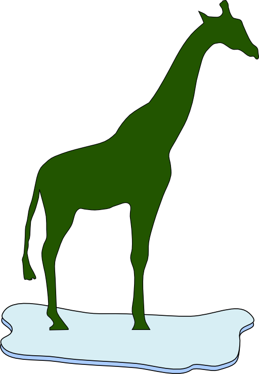 Giraffe On Ice