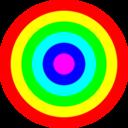 Rainbow Circle Target 6 Color