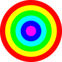 Rainbow Circle Target 6 Color