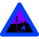 download Warning Shale Gas clipart image with 225 hue color
