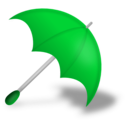 download Umbrella Red clipart image with 135 hue color