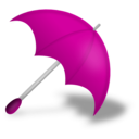 download Umbrella Red clipart image with 315 hue color
