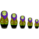 download Matryoshka Doll clipart image with 45 hue color