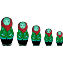 download Matryoshka Doll clipart image with 135 hue color