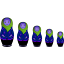 download Matryoshka Doll clipart image with 225 hue color