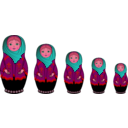 download Matryoshka Doll clipart image with 315 hue color