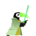 download Toucan Jedi Master clipart image with 45 hue color