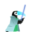 download Toucan Jedi Master clipart image with 135 hue color