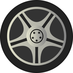 Simple Car Wheel Tire Rims Side View