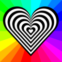 download Zebra Heart 12 Stripes clipart image with 135 hue color
