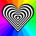 Zebra Heart 12 Stripes