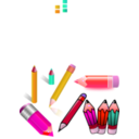 download Pencils clipart image with 315 hue color