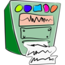 download Old Computer clipart image with 315 hue color
