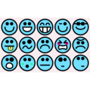 download 15 Small Smilies clipart image with 135 hue color