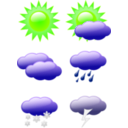 download Weather Symbols clipart image with 45 hue color