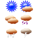 download Weather Symbols clipart image with 180 hue color