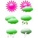 download Weather Symbols clipart image with 270 hue color