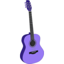 download Guitar 1 clipart image with 225 hue color