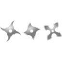 download Silver Shurikens clipart image with 45 hue color