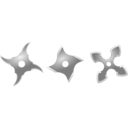 download Silver Shurikens clipart image with 135 hue color