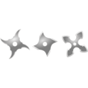 download Silver Shurikens clipart image with 315 hue color
