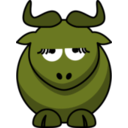 download Cartoon Gnu Is Disappoint clipart image with 45 hue color