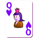 download White Deck Queen Of Hearts clipart image with 270 hue color