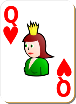 White Deck Queen Of Hearts