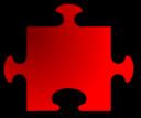Red Jigsaw Piece 08