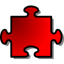 Red Jigsaw Piece 08