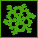 Eco Green Snow Icon