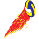 Flamed Volleyball