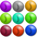 download Game Marbles Dots clipart image with 45 hue color