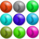 download Game Marbles Dots clipart image with 135 hue color
