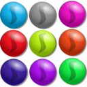 download Game Marbles Dots clipart image with 315 hue color