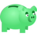download Piggy Bank clipart image with 135 hue color
