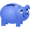 download Piggy Bank clipart image with 225 hue color