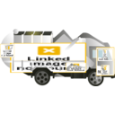 download Garbage Truck clipart image with 45 hue color