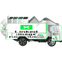 download Garbage Truck clipart image with 135 hue color