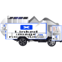 download Garbage Truck clipart image with 225 hue color
