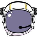 download Space Helmet clipart image with 45 hue color