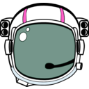 download Space Helmet clipart image with 315 hue color