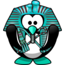 download Tut Ankh Penguin clipart image with 135 hue color