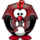 download Tut Ankh Penguin clipart image with 315 hue color