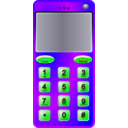 download Slim Cell Phone clipart image with 45 hue color