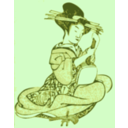 download Geisha With A Shamisen clipart image with 45 hue color
