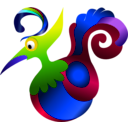 download Decorative Bird clipart image with 225 hue color